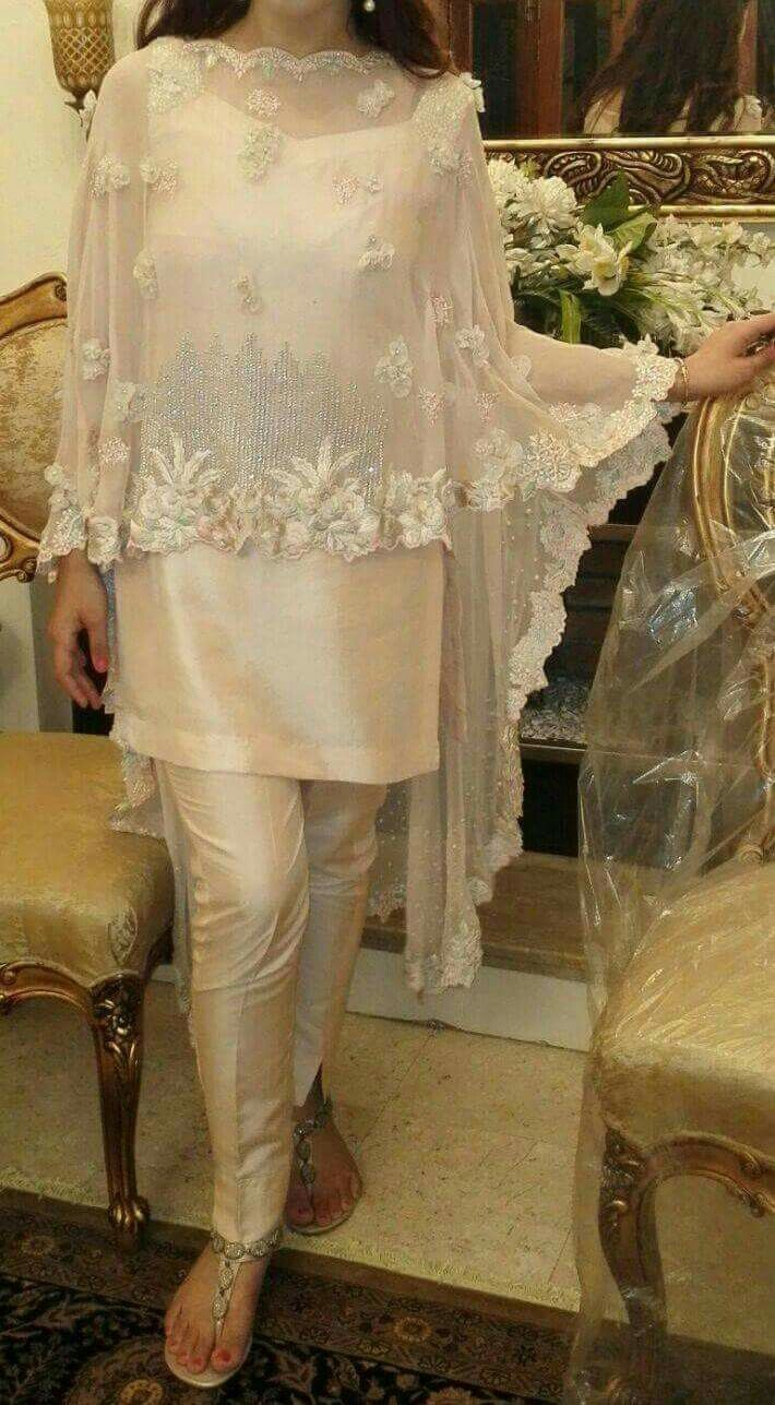 Poncho dress pakistan fashion