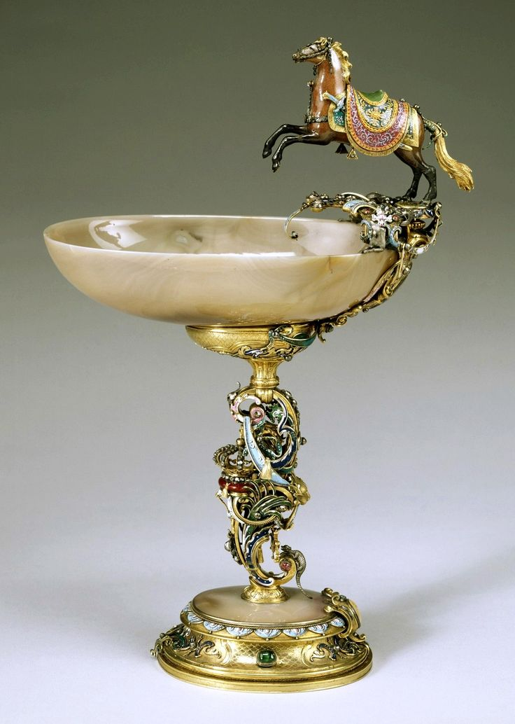 Ceremonial cup of Augustus the Strong with a prancing Polish horse and the ceremonial sword of Poland by Johann Melchior Dinglinger, ca. 1697-1722, The Walters Art Museum
