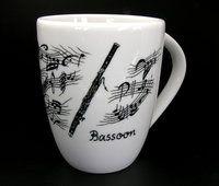 Tasse Fagott ♫♪ ☕ www.musiker-geschenke.com/Tassen