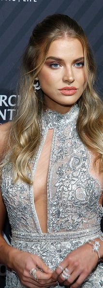 Stunning Sports Illustrated model Tanya Mityushina in Berta (STYLE: 18-62) while on the red carpet at the 2017 Sports Illustrated Sports Person Of The Year Awards