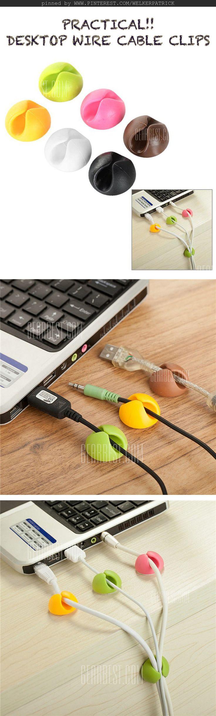 Practical Desktop Wire Cable Clips