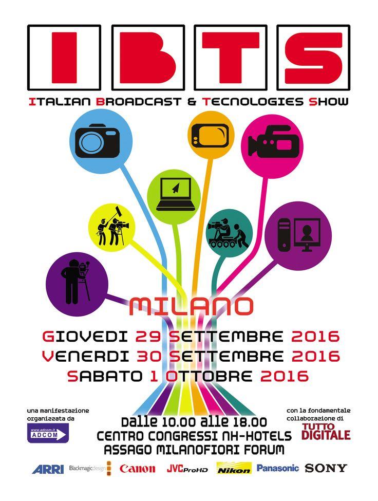 IBTS Milano 2016 - Giunta alla 5° edizione IBTS sarà per la terza volta a Milano presso il Centro Congressi NH Hotel ad Assago.Si terranno corsi di formazione professionale promossi da ADCOM srl, per avere l'occasione di interfacciarsi alle tecnologie in questione. PREISCRIZIONE RISERVATA AI CLIENTI ADCOM E' necessario registrarsi per ogni singolo giorno di esposizione  Info: http://www.adcom.it/it/eventi/ibts-milano-2016/x_6_136