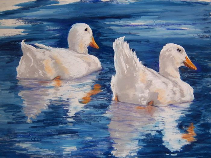 Painting Ducks in Pastels, online art lesson