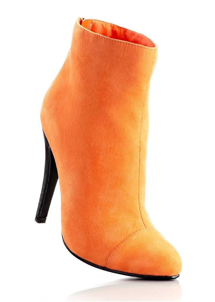#orange #ankle #boots #bonprix