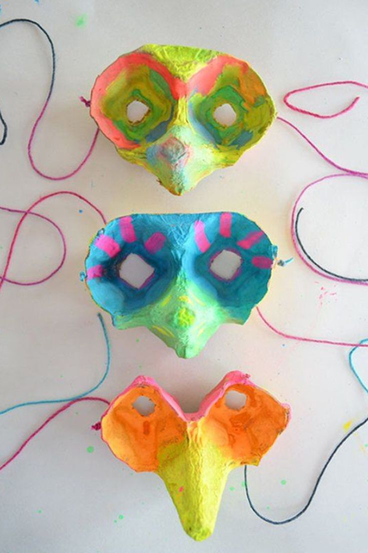 Egg Carton Masks ~ 10 Crafty Cardboard Ideas | Tinyme Blog