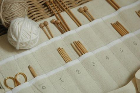 knitting needle storage DIY #designsponge, #knitting