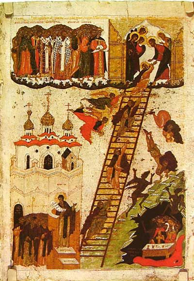 Heavenly Ladder of St John Climacus First half of the 16th century, Novgorod 63.3 × 44 cm The Russian Museum, Saint Petersburg, Russia // B RIP. :(