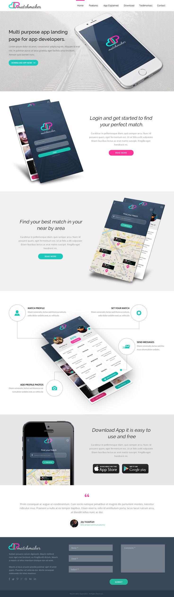 Matchmaker - App Landing Page
