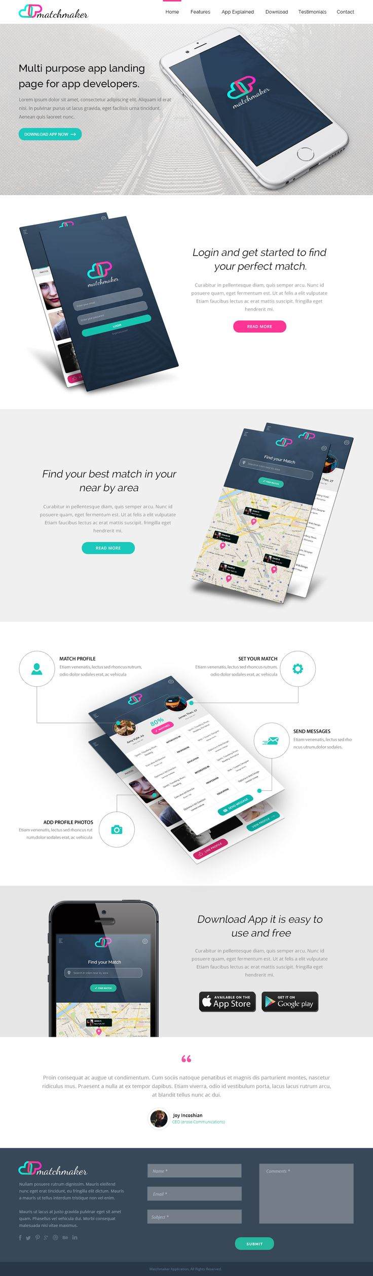web app landing page