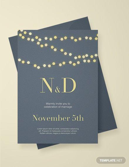 Free String Lights Wedding Invitation Hahs Wedding Invitations