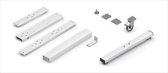 Zubehör für höhenverstellbares Tischuntergestell TA – Ergoswiss AG