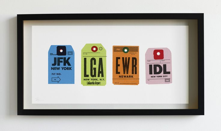 ART | New York Airports Print - Pilot and Captain