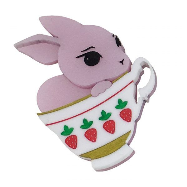 Bunny Cup Betty - Pink with Strawberries