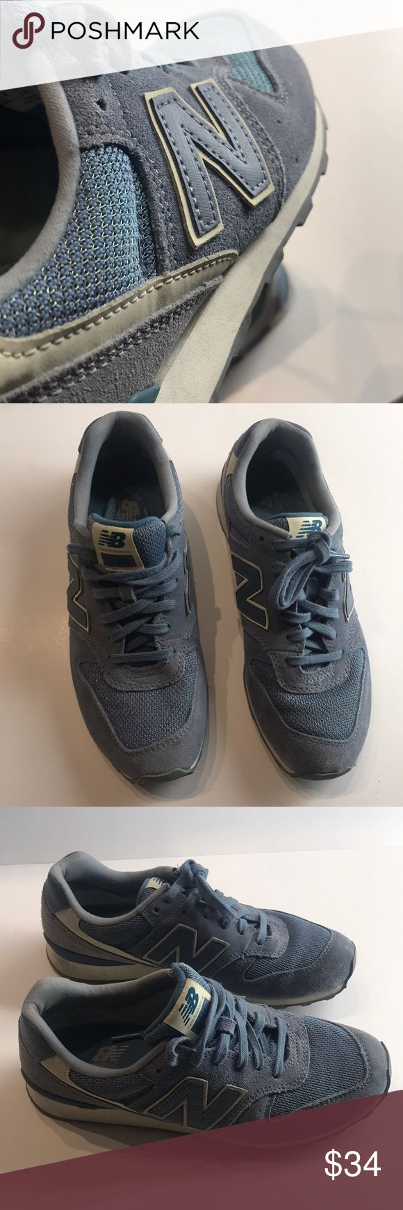 Like new New Balance retro 696 running shoes It's 1985 and you are out the door in your new 696 running shoes... seriously a total throwback look !!! Great every day shoes with ample cushioning for the daily grind if you drive , deliver, or stand a lot . Lightweight but not cheap light like ... and the list goes on and on.... New Balance Shoes Sneakers