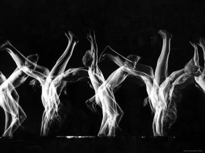 Stroboscopic Image of Tumbling Sequence Performed by Danish Men's Gymnastics Team Photographic Print by Gjon Mili at Art.com