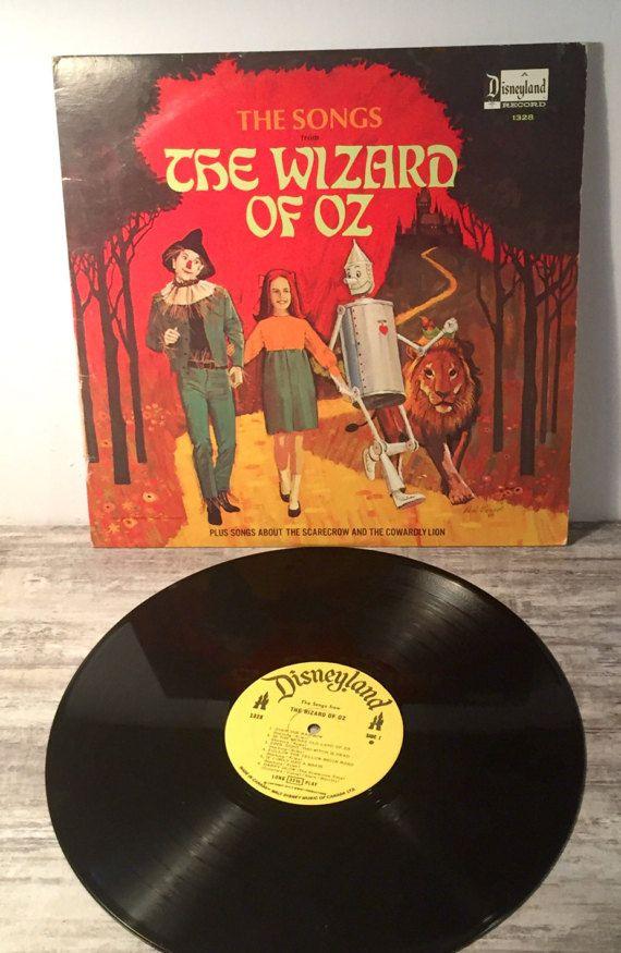 Vintage Wizard of Oz Vinyl #WizardofOz #1969 #Vinyl #DisneylandReocrds #Songs