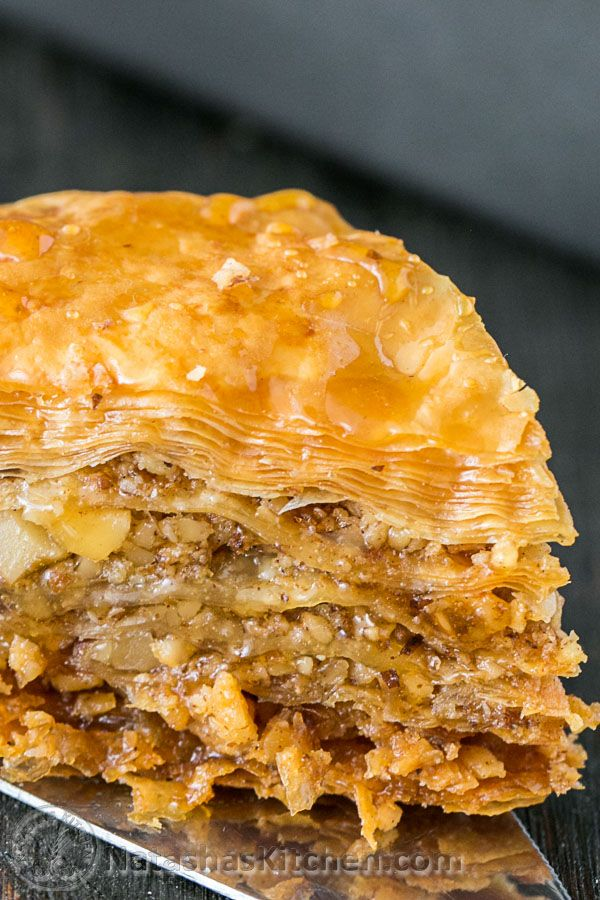This baklava is flaky, crisp, tender and I love that it's not overly sweet. No store-bought baklava can touch this! | natashaskitchen.com