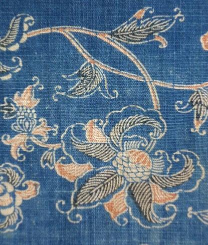 19th c. karakusa katazome Japan