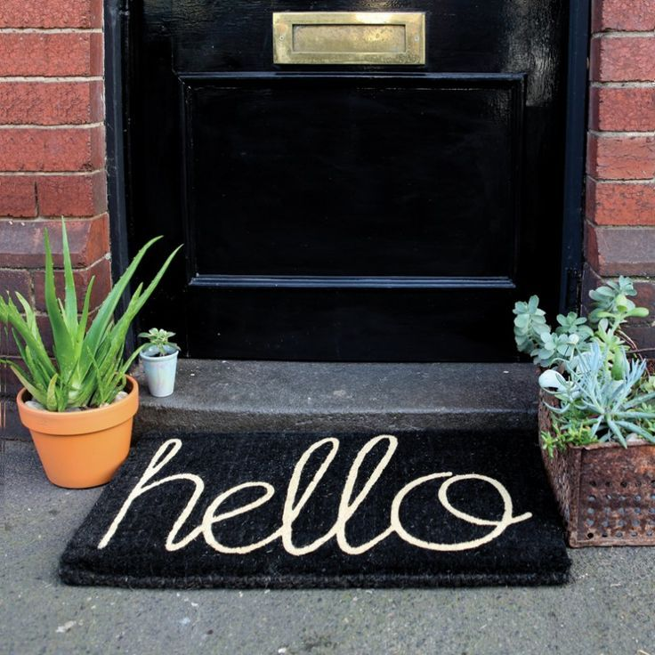 darling hello doormat.