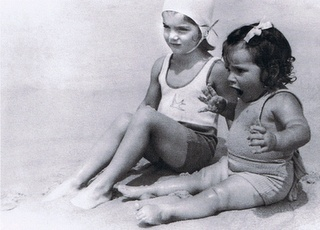 Child Jackie & sister, Always a calm exterior
