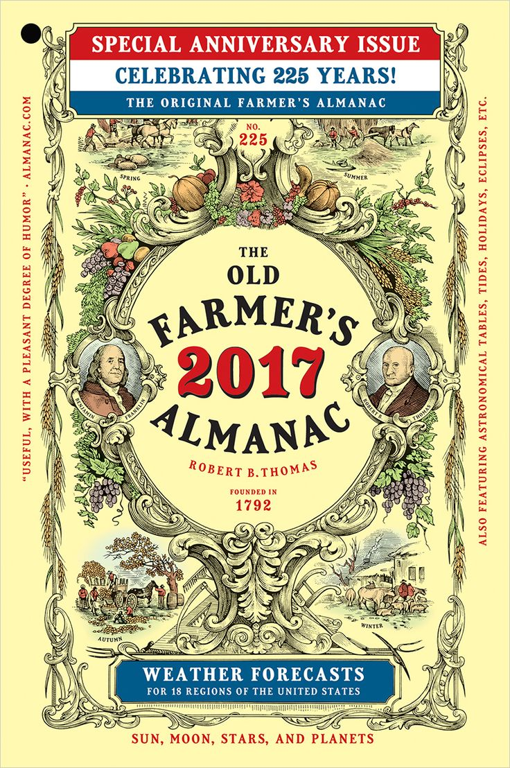 2017 Old Farmer's Almanac media relations information press releases