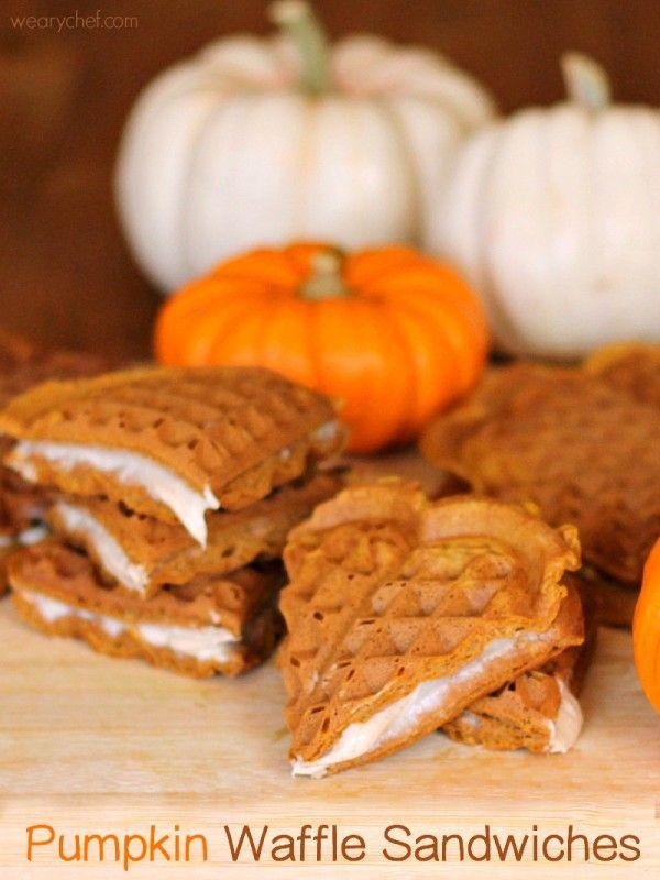 Pumpkin Waffles with Brown Sugar-Cinnamon Cream Cheese ...