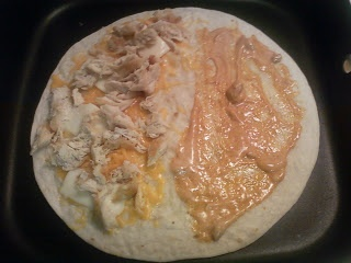 Chicken quesadilla Taco bell clone recipe. Original post and recipe through pic. My boyfriend loves these, and he is very picky!!!
