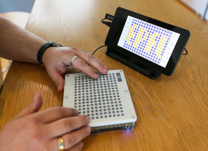 Blindpads tablet makes visual information tactile for the vision-impaired