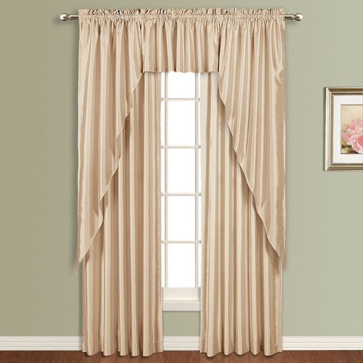 United Curtain Anna Lined Faux Silk Curtain Panel Taupe - AN63TP