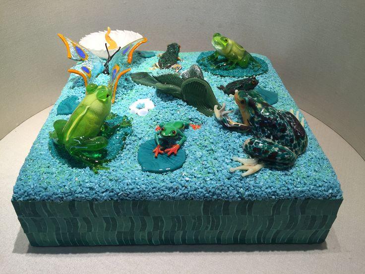murano glass aquarium / acquario in vetro di murano / murano glass sculpture / scultura in vetro di Murano / handmade / murano glass / frogs di Sanmarcoartedesign su Etsy
