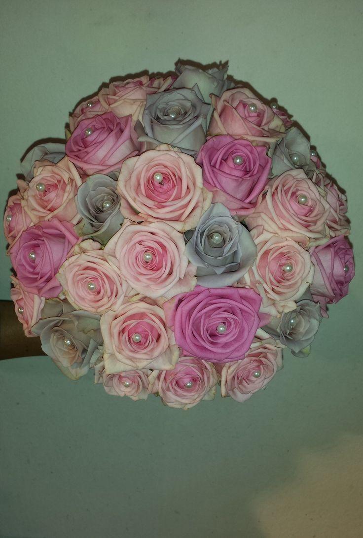 Trouwboeket rozen met parels the Flower Factory Rotterdam