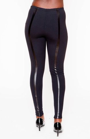 Ribbed insert leggings