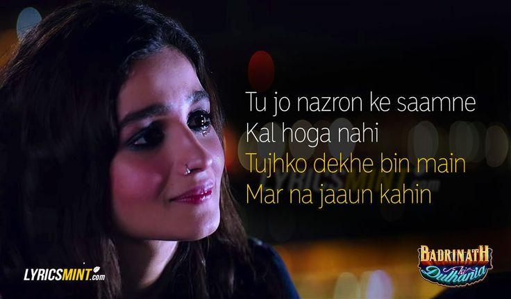 Roke Na Ruke Naina Lyrics from Badrinath Ki Dulhania starring Varun Dhawan & Alia Bhatt. An Arijit Singh song composed by Amaal Mallik & written by Kumaar. Bollywood.
