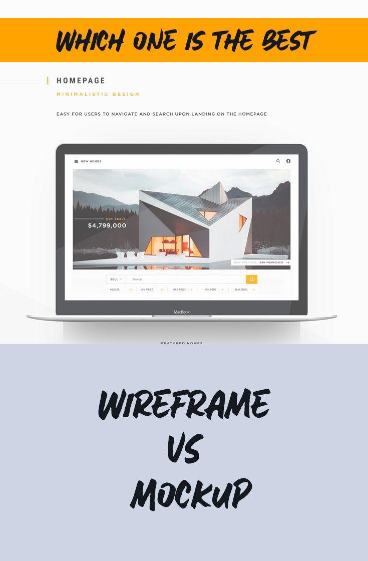 Wireframe Vs Mockup Ux Design Learn Wireframe Interactive Design