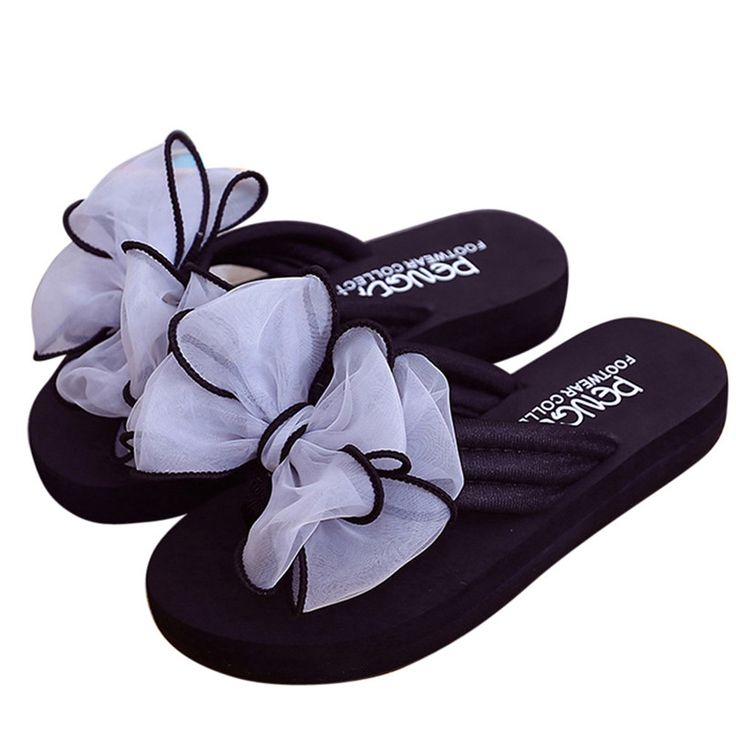 Women Summer Bowknot Sandals Flip Flop Fashion New Woman Slipper Indoor Outdoor Flip-flops Beach Shoes for Women Ladies