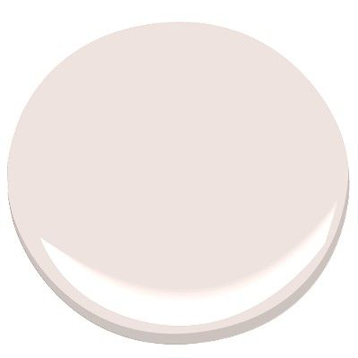 pale pink # 1373 ben moore with a touch of grey.  Might look really good in a bedroom...not too girly, but still sweet.  I'd like to pair it with soft red and grey.