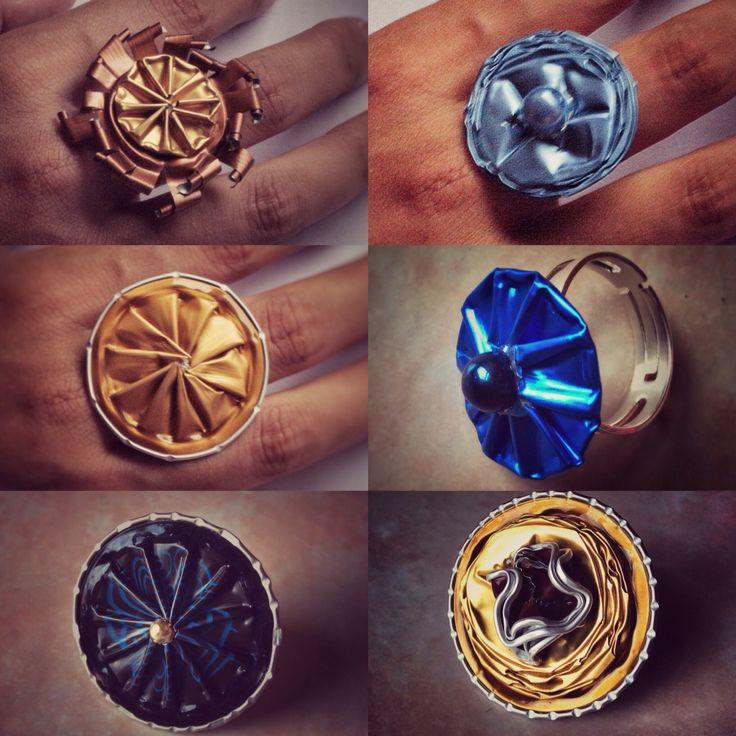 #Nespresso #anello #riciclo #fantasia #colori #callme #prezioidee