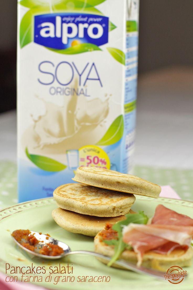 Pancakes salati senza glutine al grano saraceno