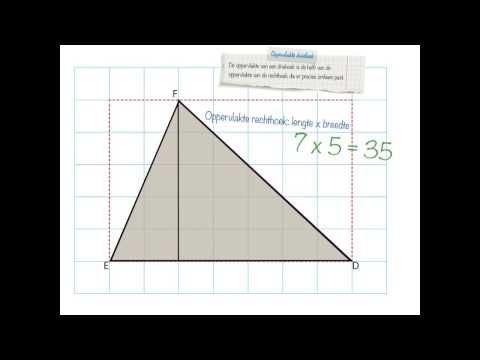 oppervlakte driehoek
