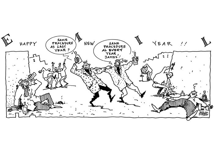 Emil - Happy New Year! ... Same procedure as every year ...  @ Detlef Surrey http://surrey.de/galerien/bilder-galerie/kategorie/emil-comic-strips-1988-91