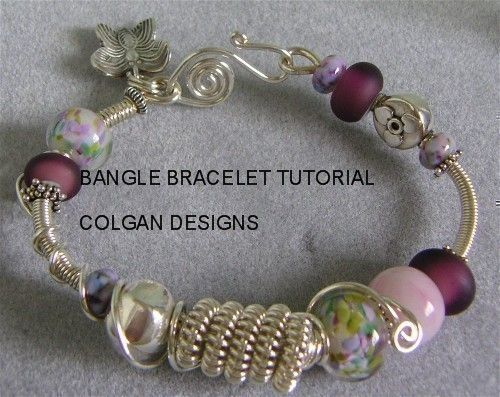 TUTORIAL Wire wrapped coil bangle bracelet with door ColganDesigns