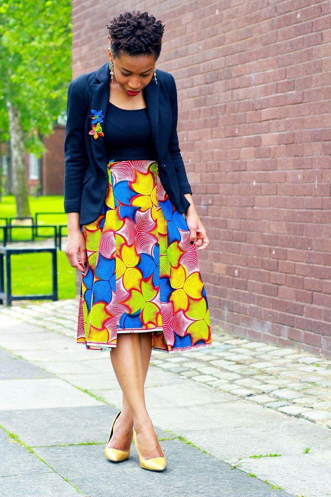 High-waist-High-low-kitenge-skirt, ~Latest African Fashion, African Prints, African fashion styles, African clothing, Nigerian style, Ghanaian fashion, African women dresses, African Bags, African shoes, Nigerian fashion, Ankara, Kitenge, Aso okè, Kenté, brocade. ~DKK