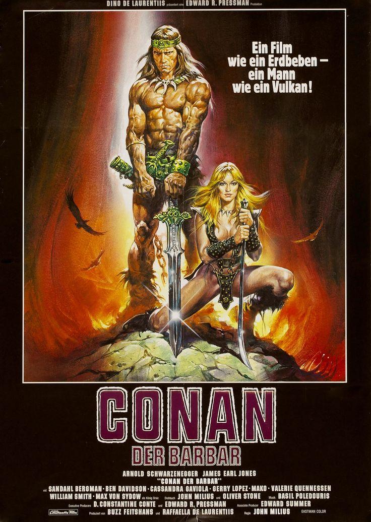 Conan the Barbarian German movie poster