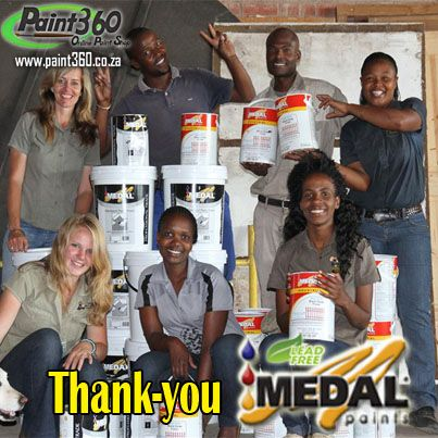 African bird of prey sanctuary would like to extend their extreme gratitude to Medal Paints for their generous, speedy delivery of their environment friendly Paint. Thank you MEDAL PAINTS you Rock!  http://www.africanraptor.co.za/wordpress/?page_id=1023