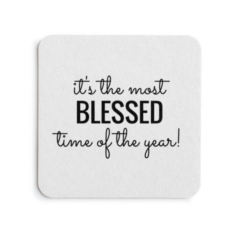 Blessed time of Year! Party Coasters