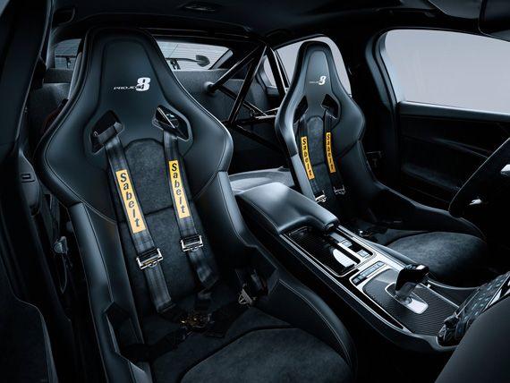 Салон седана Jaguar XE SV Project 8 2018 / Ягуар ХЕ SV Project 8 2018