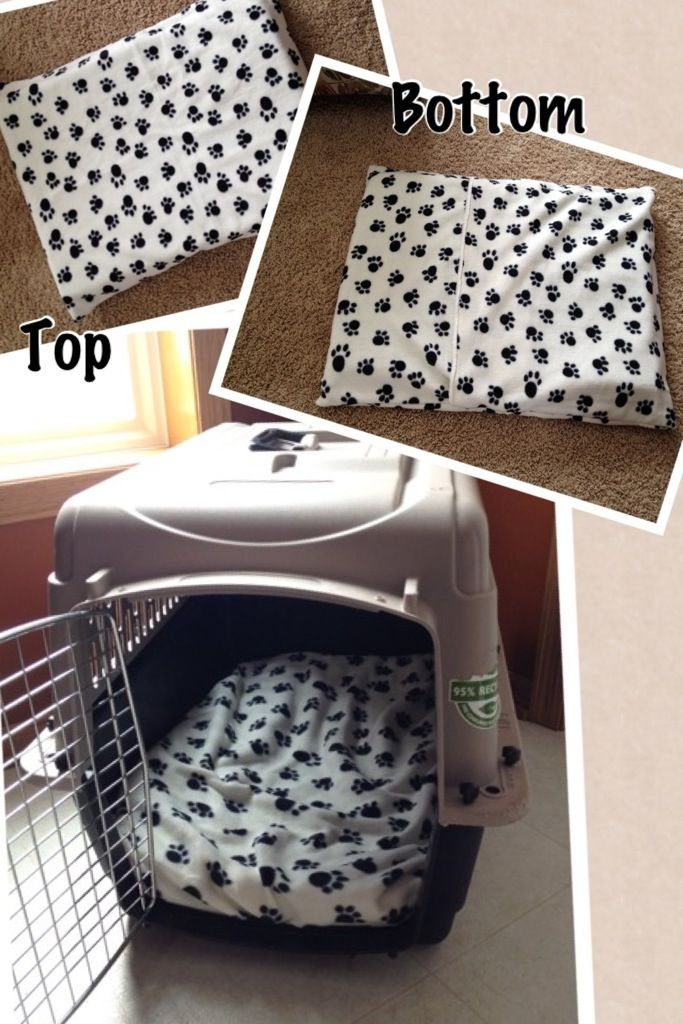 DIY dog crate pad for less than $12. The cover is removable and washable...
