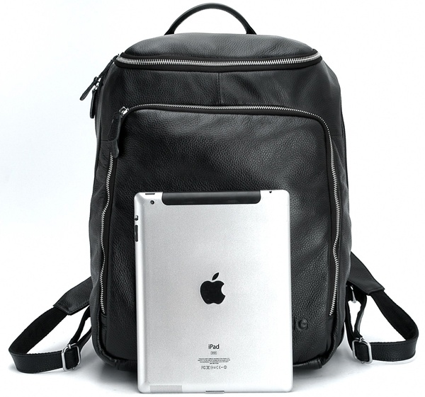 Black Leather Backpack for Laptop assets4.pinimg.com