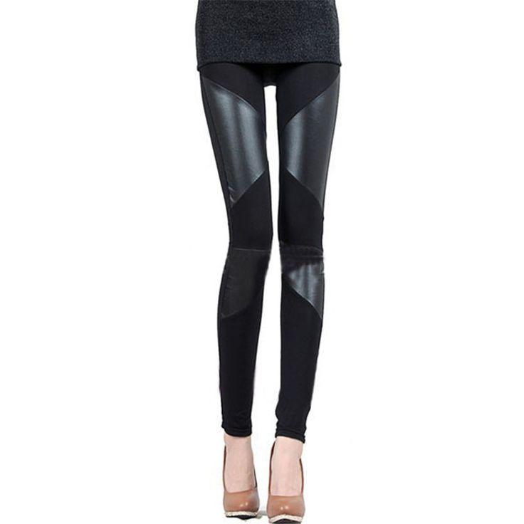 Barato Sml XL 2XL 3 padrões Zanzea 2015 New Slim Fit mulheres emenda Sexy trecho de algodão calças Legging de couro falso, Compro Qualidade Leggings de Denim diretamente de fornecedores da China:            Tipo          S          M          L          XL          2XL            Wasit:          Até 74 cm (39