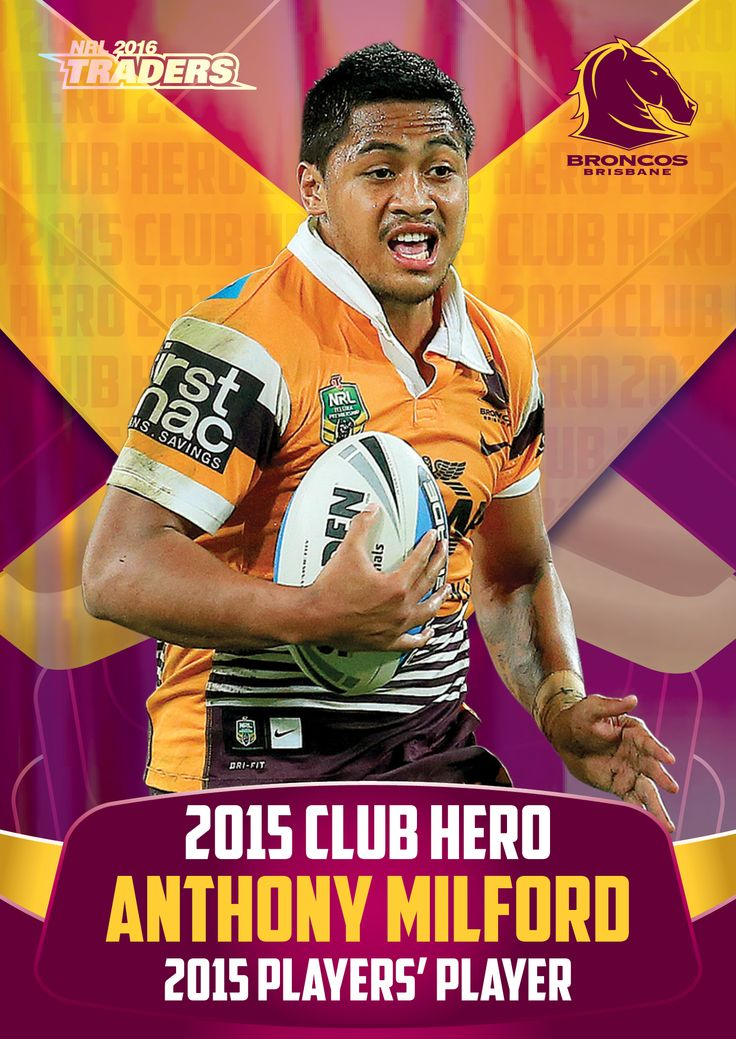 Brisbane Broncos 2015 Club Hero, Anthony Milford. #NRL Traders available in stores now.